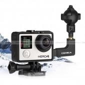 ไมค์กล้อง GoPro 3,3+,4,5 ไมค์สเตอริโอ ออกแบบมาให้ลดเสียงรบกวนได้อย่างดี