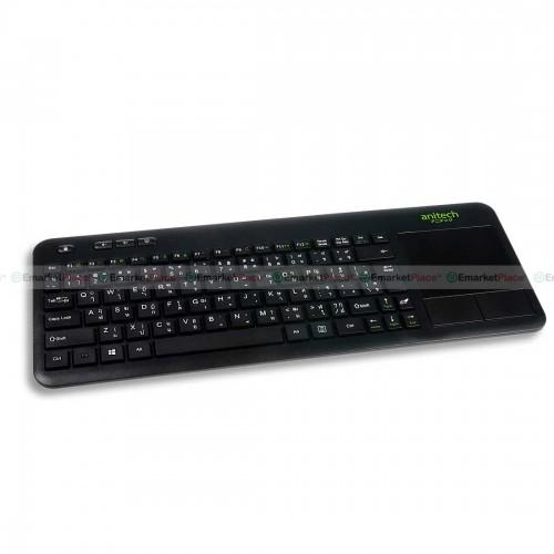 คีย์บอร์ดไร้สาย พร้อม Touch Pad ในตัว ใช้ได้กับ PC/Mac/Smart TV/Android OS