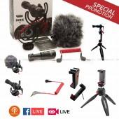 อุปกรณ์เสริมและไมค์ live facebook / PODcast / live streaming และขายสินค้า