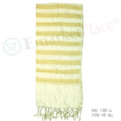 ผ้าพันคอ และผ้าคลุมไหล่ เนื้อผ้าดี สวยงาม สีเขียวอ่อน ผลิตภัณฑ์ผ้าคุณภาพ